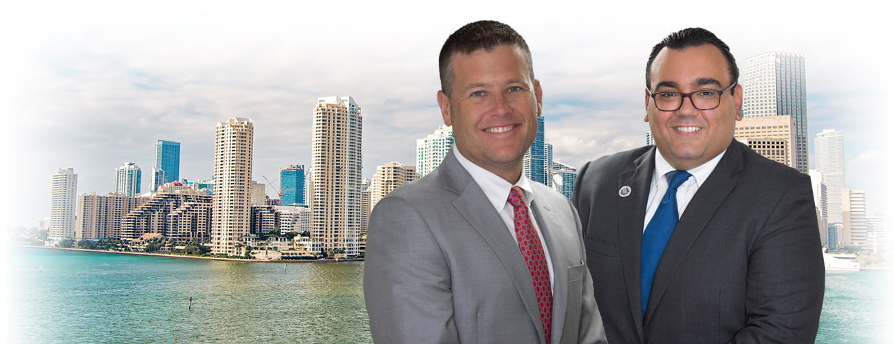 Attorney's Photo in front of Miami buildings