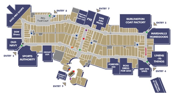 dolphin mall map