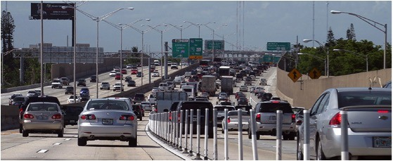 Interstate 95 in Miami