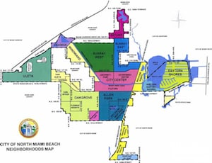North Miami Beach Neighborhood Map