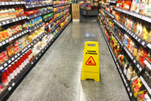 Supermarket Wet Floor Sign