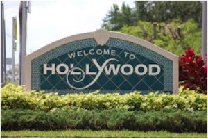 Welcome to Hollywood, FL Sign